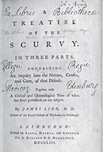 A page from the Treatise on Scurvy